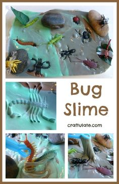 Bug Slime  Repinned by Apraxia Kids Learning. Come join us on Facebook at Apraxia Kids Learning Activities and Support- Parent Led Group.