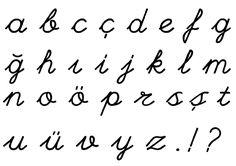 El Yazısı Harfleri Ilkokul El Yazısı Turkish Hand Writing