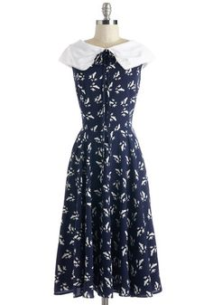 1940s inspired dress: Migrate to Montauk Dress $84.99
