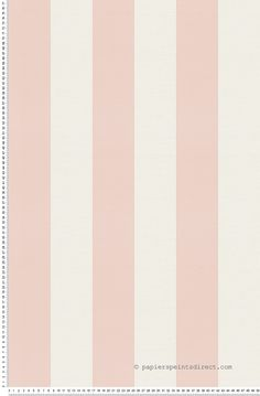 Papier peint Larges rayures rose et blanche - Papier peint Oilily Atelier : Papier peint chambre, entrée, pièce à vivre à rayures