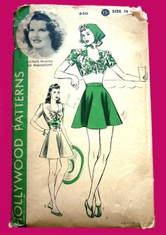 c. late 30s/early 40s Hollywood Pattern 650 featuring Olympia  Bradna
