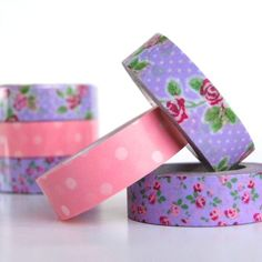 Purple & Pink Roses Washi Tape - Omiyage.ca