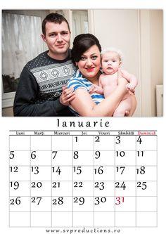 Calendar luna Ianuarie cu tema Portret de familie.