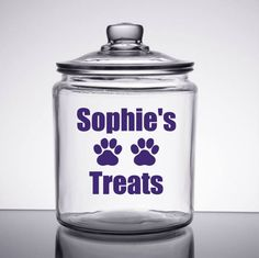 Dog Treats Decal - Personalized Pet Treat Decal - Dog Food Decal - Dog Treat Sticker - Pet Food Decal - Animal Lover Decal - Dog Decal - Pet by SimplyGracefulDesign on Etsy
