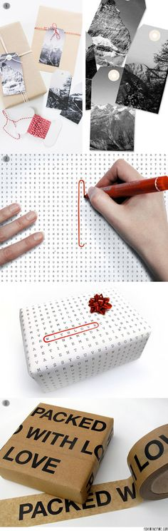 Quirky gift wrapping ideas   //   FOXINTHEPINE.COM