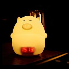 Description The item is not only a night light but also a alarm clock. It can display temperature. It will make a sound with patting, so it is a good friend for kids. Made of silicone material, it is soft and lovely. Not only can be used as night lights but also be used as toys and decorations,... more details available at https://perfect-gifts.bestselleroutlets.com/gifts-for-babies/toys-games-gifts-for-babies/product-review-for-ledmomo-children-night-light-alarm-clock-cute-p