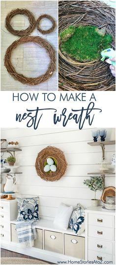Spring DIY Wreath Nest Wreath