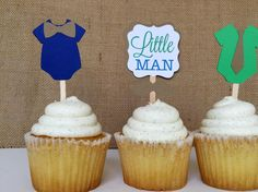 12 Little man onesie ties and bow ties birthday/baby shower Cupcake Toppers - http://babyshower-cupcake.com/12-little-man-onesie-ties-and-bow-ties-birthdaybaby-shower-cupcake-toppers/