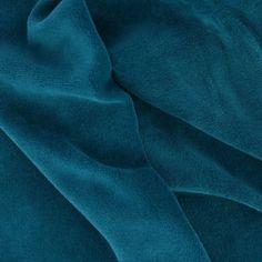 Tissu Velours ras - Bleu canard x10cm : Ce tissu est un éco-textile labellisé Oeko-Tex. Ce label garantit l'absence de produits toxiques pour le corps et pour l'enviro
