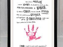 """Handabdruck - Baby, Kind """"Meine Hand für dich"""" A4"""