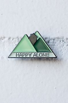 Happy Alone lapel pin | Stay Home Club