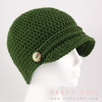 Winter is not my favorite season of the year, but at least I get to wear some cute hats... and this basic newsboy design is one of my favorites. It's simple, with a touch of charm and it can be mad...