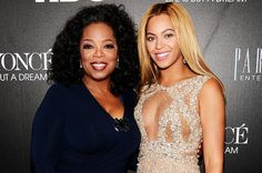 """Beyoncé with Oprah Winfrey at the NYC premiere of HBO's """"Beyoncé: Life Is But A Dream."""""""