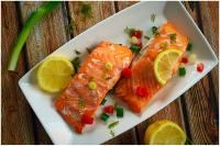 Chilli lemon salmon on MyRecipeMagic.com Healthy and delicious baked salmon with a chilli kick.