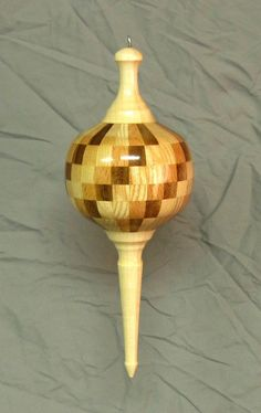 Segmented Turned Christmas Ornaments   Segmented Ornament 1080 by SquarePegProducts on Etsy, $30.00