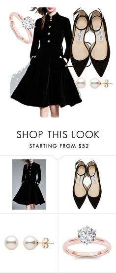 """""""50 / Classic LBD"""" by faeryrain ❤ liked on Polyvore featuring WithChic, Jimmy Choo, LittleBlackDress, fashionset, polyvorecontest and winterstyle"""