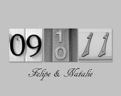 numbers...would be cute about the bed or incorporate somewhere in house or even in garden bed.