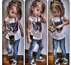 Summer casual rock style