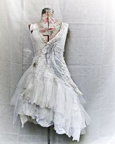 the Celestine dress.. handmade from reclaimed antique & vintage fabrics. available in the gibbous shop