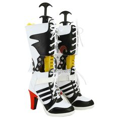 Batman Suicide Squad Harley Quinn Boots Cosplay Shoes
