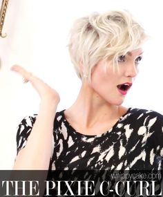 How to Style a Pixie Hairstyle: The C-Curl