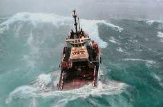 rough seas ship