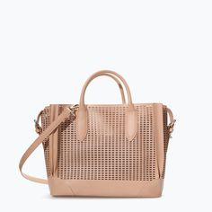 ZARA - SHOES & BAGS - SHOPPER WITH CUTOUTS AND COMPARTMENTS