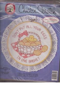 Colortex Chicken Scratch Don't Put All Your Eggs in One Basket Kit Stamped  #Colortex #Frame