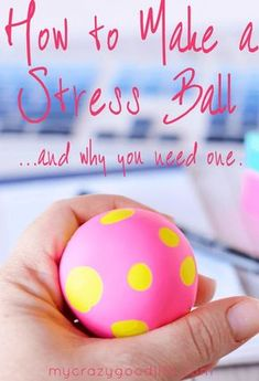 Stress ball, fidget ball, whatever you want to call it... you need one to help you calm down. Here's how to make one–it's super easy!   via @bludlum