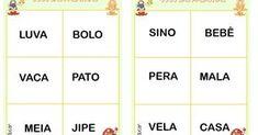 Neste jogo as crianças podem relacionar leitura com a imagem e coloca-las em cima.