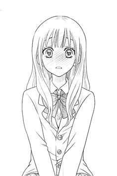 Want to have your own character in anime ? #anime #animeportrait #animecharacter #animemanga #animesketch Basic Drawing, Manga Drawing, Lineart Anime, Coloring Book Art, Manga Cute, Art Drawings Sketches Simple, Anime Sketch, Cartoon Pics, Kawaii Anime Girl