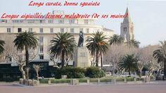 Monument aux morts à Bastia,La mère donnant son fils pour la patrie. Monument aux morts sur le champ d'honneur situé sur la place Saint Nicolas à Bastia (Corse).