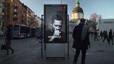 Reklamskylten som hjälper dig med nyårslöftet. A billboard helping you with your new year´s resolution.