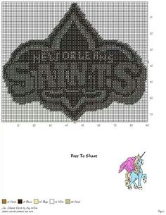 New Orleans Saints can you lighten this and make and Erath bobcats Plastic Canvas Crafts, Plastic Canvas Patterns, Cross Stitch Patterns, Crochet Patterns, Football Crafts, Peler Beads, Melting Beads, Canvas Designs, String Art