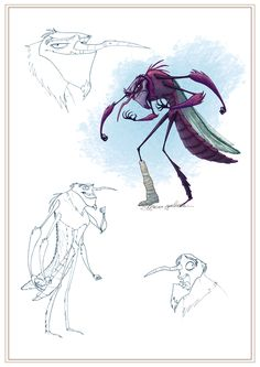 Character Design & Concepts for animated project by Mariano Epelbaum, via Behance