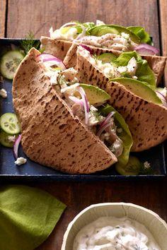 Greek Chicken Stuffed Pitas from www.whatsgabycooking.com the easiest weeknight meal you'll make!! (@whatsgabycookin)