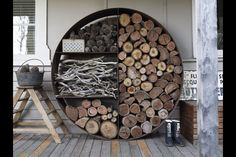 You don't even have to use this for firewood, it could make a crazy planter if you've got the skill!