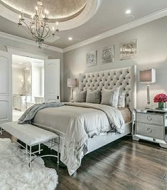 Home Bedroom, Bedroom Decor Glam, Bedroom Design, Dream Bedroom Glamourous Bedroom, Modern Bedroom, Home Bedroom, Bedroom Interior, Bedroom Design, Master Bedrooms Decor, Bedroom Decor, Small Bedroom, Master Bedroom Colors