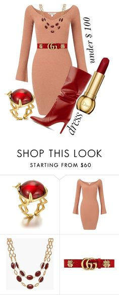 """""""Winter Dress Under $100"""" by victoria-ronson ❤ liked on Polyvore featuring Miss Selfridge, Talbots and Gucci"""
