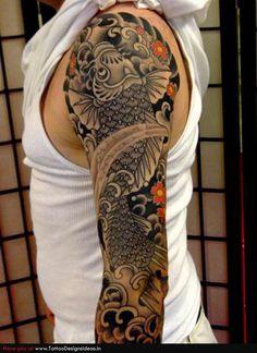 Japanese Cherry Blossom Flower Tattoo | Tatto design of Japanese Tattoos cherry blossom - TattooDesignsIdeas ...