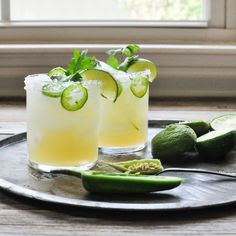 Fresh Lime and Jalapeno Margarita   ChicChicFindings.etsy.com