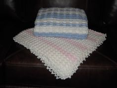 Afghans for baby boy & girl... have made both of these