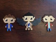 Supernatural (Sam, Dean, and Castiel)  perler beads by GeekyAssassin31