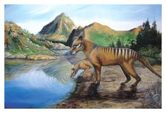 Thylacines 18 x 12 Fine Art Print Archival from by PlatypusRiver, $39.00