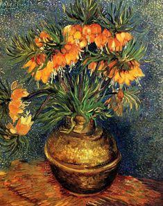 Vincent Van Gogh - Fritilatries in a Copper Vase, April-May 1887