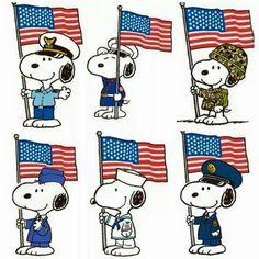 Patriotic Snoopy.
