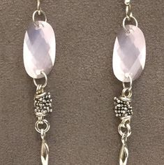 b9f14017d Michael Dawkins Michael Dawkins Rose Quartz Earrings Sterling Silver Dangle  Jewelry Closet, Tiffany Jewelry,
