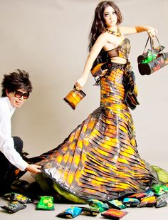 Great idea for a eco-fashion show :) Very creative