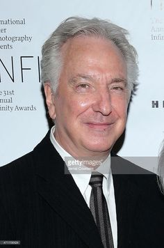 """Alan Rickman attends the International Center Of Photography """"31st Annual Infinity Awards"""".  New York, New York. April 30, 2015"""