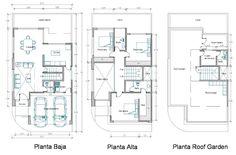 Casa Loft, Loft House, Small House Floor Plans, Modern House Plans, Autocad Layout, Small Villa, Architectural House Plans, Villa Plan, Narrow House